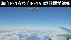 海自P-1哨戒機を空自戦闘機が護衛支援する訓練を太平洋上で実施…百里基地のF-15、F-4戦闘機が参加!