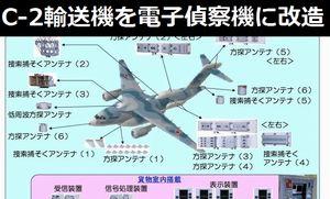 日本の新型電子偵察機か、C-2輸送機をベースに改造し大型レドームや機体各所に大型カウリングを取り付け…中国メディア!