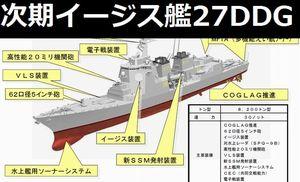 海上自衛隊の次期イージス護衛艦「27DDG」スレ!