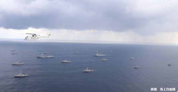 宮崎県沖で日米共同機雷戦・掃海特別訓練始が開始、海自艦艇19隻と米海軍掃海艦1隻が参加!