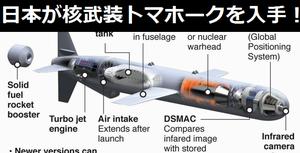日本が核武装トマホーク巡航ミサイルを入手すると衝撃告白… 余命3年時事日記!