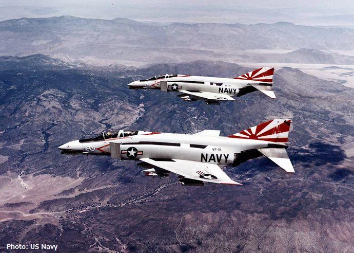 F-4B_Phantoms_of_VF-111_in_flight_c1972