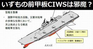 いずも型護衛艦の前甲板ファランクスCIWSは、航空機搭載時には邪魔になる?