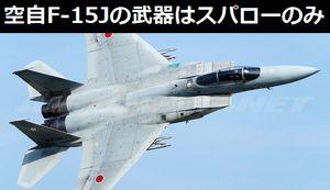 空自のF-15Jは半数がスパローしか撃てない旧式機、Su-30やJ-15に対抗できるの?