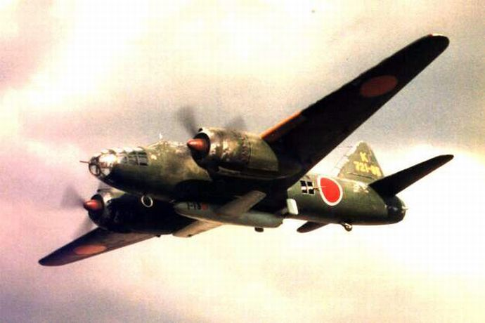 Ohka_carried_under_the_belly_of_a_Betty_of_721st_Naval_Air_Group