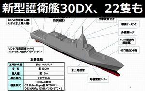 海上自衛隊の新型護衛艦30DX、22隻も造る予定になってんの?