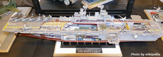 USS_Wasp_(LHD-1)_-_1;350_cutaway_plastic_model
