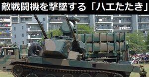 敵戦闘機を撃墜する「ハエたたき」の異名を持つ陸自87式自走高射機関砲…堅牢なフォルム!