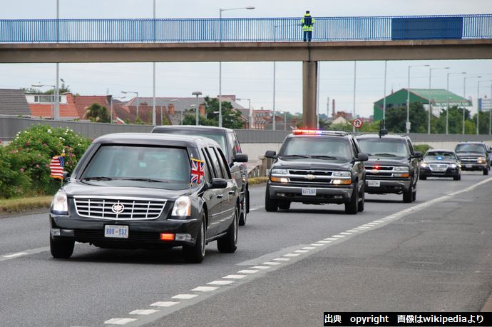 _Bush_motorcade_in_Belfast