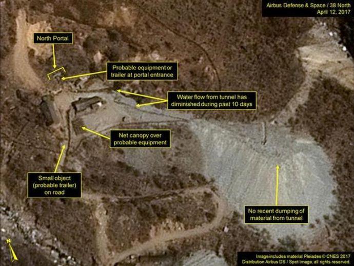 北朝鮮の地下核実験場に新たな動きを米偵察衛星がとらえる…核実験を行う可能性も!