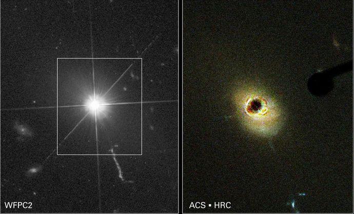 Hubble+images+of+quasar+3C+273