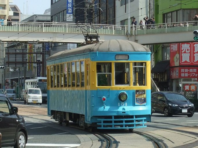 Nagasaki_Dentetsu_tram_151_last_run