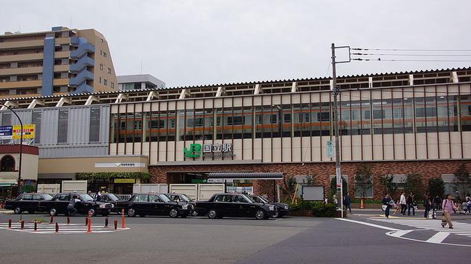 800px-Kunitachi_Station_north_20151010