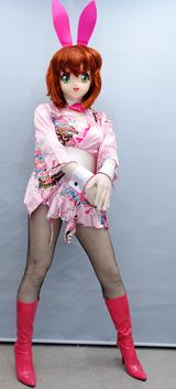 ピンク着物バニーガール03