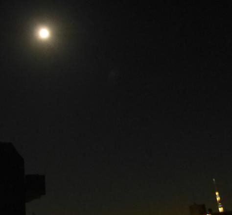満月とスカイツリー