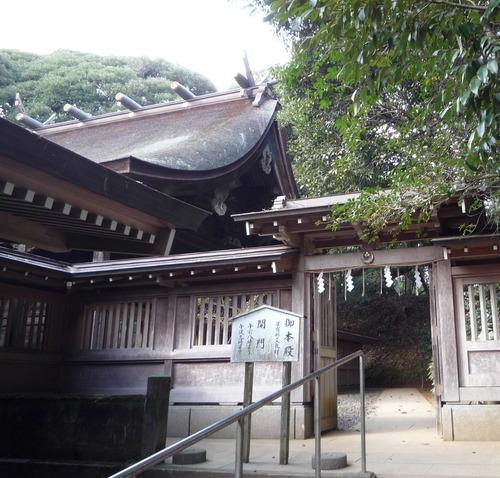 猿田神社 本殿入口
