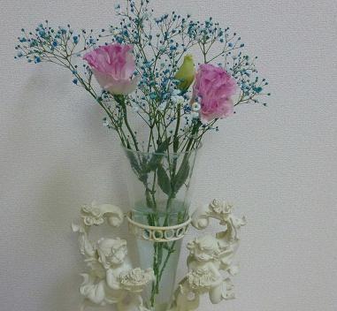 天使とお花