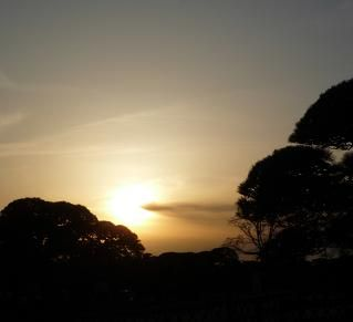 水戸の夕日