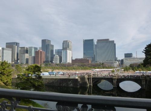 二重橋からの景色