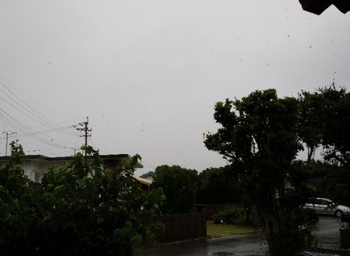 久高島の雨