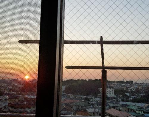 夕日と富士山11.22