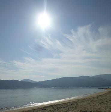 天橋立遊歩道砂浜