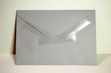 『 セロハンテープ風 透明箔押し 』 封筒 - 01