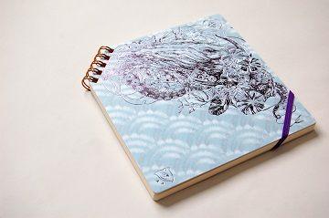 『 夏の彩 』 正方形ななめリングノート - 09