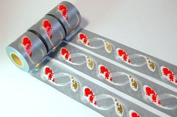 錦鯉スパイラル箔押しマスキングテープ