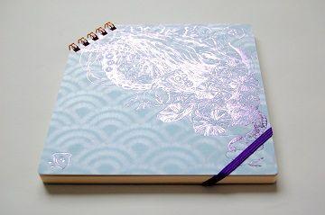 『 夏の彩 』 正方形ななめリングノート - 05