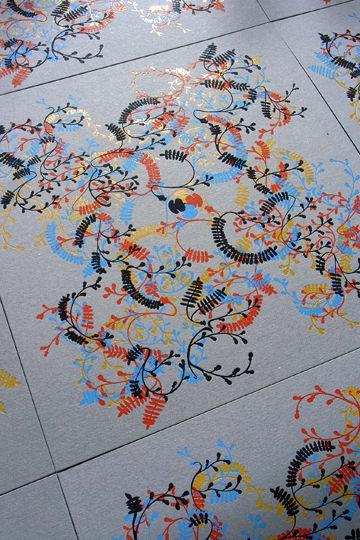 くるくる万華鏡 on チップボール feat. PRINTERS'FLOWERS fuji - 03