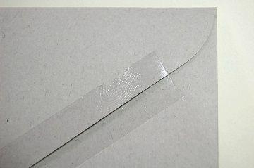 『 セロハンテープ風 透明箔押し 』 封筒 - 04