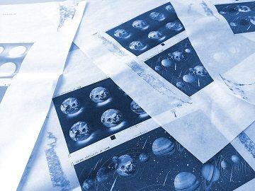 地球惑星マスキングテープ青焼き - 02