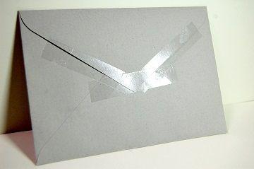 『 セロハンテープ風 透明箔押し 』 封筒 - 03