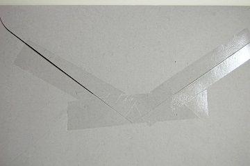 『 セロハンテープ風 透明箔押し 』 封筒 - 02