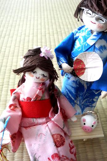 ちりめん人形(夏のたのしみ)