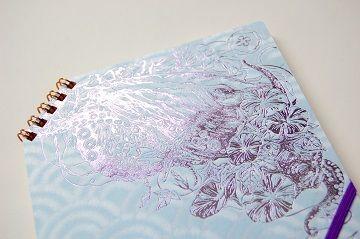 『 夏の彩 』 正方形ななめリングノート - 03
