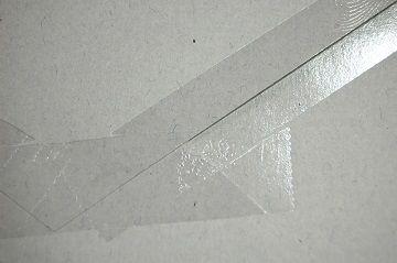 『 セロハンテープ風 透明箔押し 』 封筒 - 05