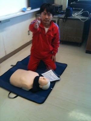 社長「あなた!AEDを使えますか?」