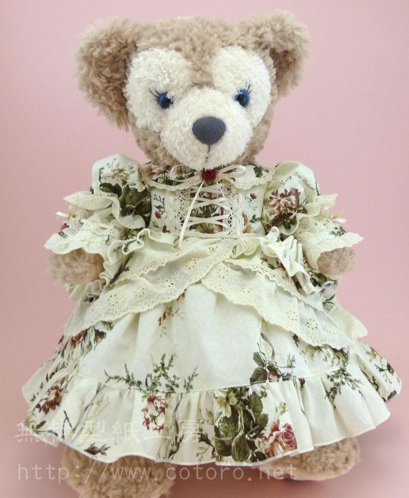 型紙を拡大or縮小コピーすれば他のサイズの縫いぐるみや人形にも着せられます(参考記事)。自由にアレンジしてください。