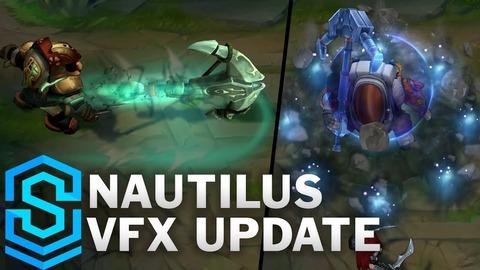 ノーチラスのVFXアップデートが予定。全スキンの比較映像紹介