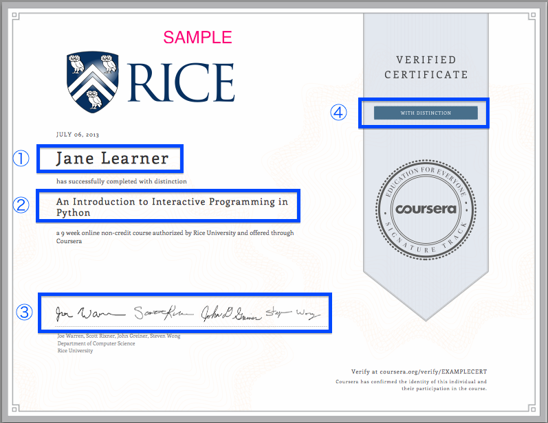 Courseraverified certificates moocs verified cerftificates sample yelopaper Images