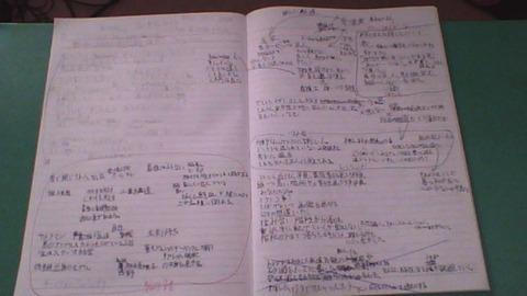 蒲生田岬の創作ノート