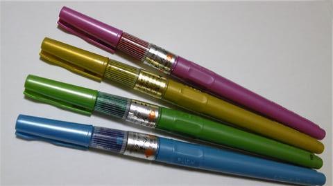 メタリック筆ペン