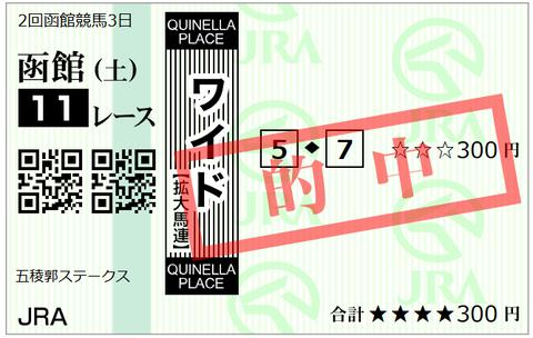 函館11Rワイド1