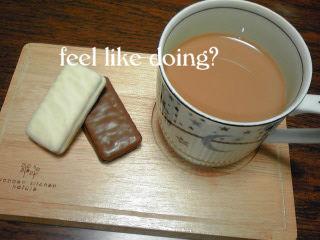 TimTamとミルクコーヒー