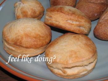 いちごヨーグルト酵母のビスケットパン