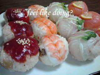 手まり(?)寿司