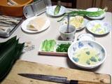 札幌出前鮨・薬味いろいろです。