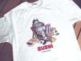 ハワイで買ったSUSHIのTシャツです。